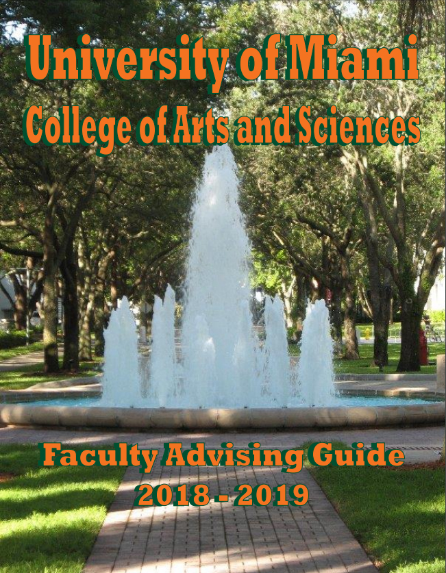 Faculty Advising Guide